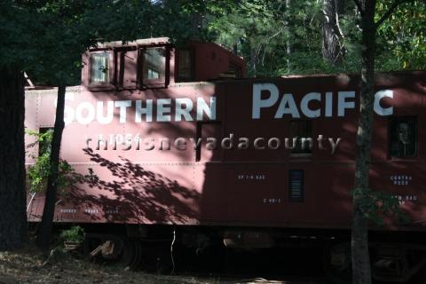 Rail car at the Nevada County Traction Company