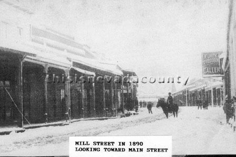 Mill St in 1890 looking towards Main St